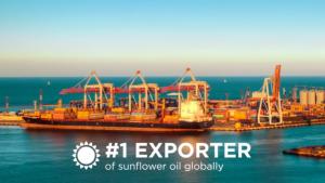Ukraine is #1 exporter of sunflower oil