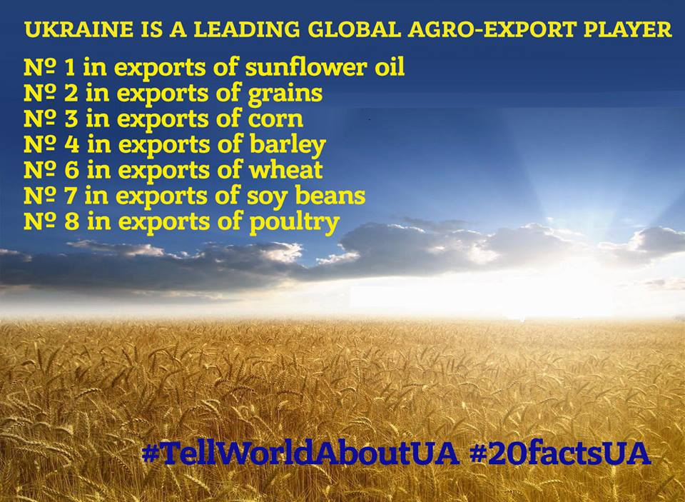 Ukraine is a leading global agro-export player