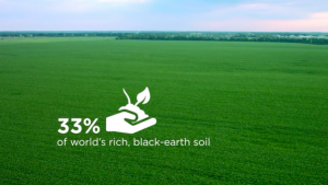 Ukraine has 33% world's rich black-earth soil